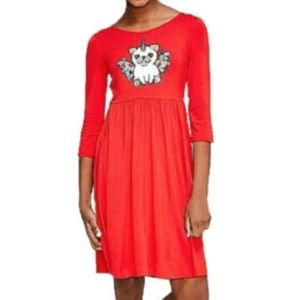 New Girls Size 14 16 Justice Red Christmas Dress